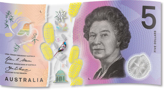 New $5 banknote signature side